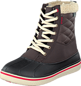 Crocs - AllCast Waterproof Duck Boot W Espresso/Red