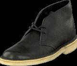 Clarks - Desert Boot Black Tumbled Leather