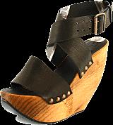 Minimarket - Space Shoe Wood Wedge Sandal Black