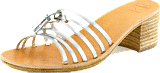 Swedish Hasbeens - Tassel Sandal High Silver