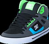 DC Shoes - Spartan High Wc Grey/Green/Blue