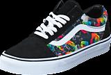 Vans - Old Skool (Rainbow Floral) Black/White