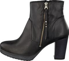Bianco - Platform Leather Boot Black