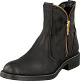 A Pair - Zipper Bootie Black
