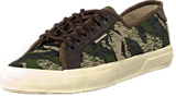 Superga - 2229 COTCAMOSYNLEAM DkGrnCam-DkBrown