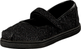 Toms - Glimmer Tiny Classic Mary Jane Black