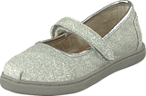 Toms - Glimmer Tiny Classic Mary Jane Silver