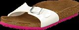Birkenstock - Madrid Slim Birkoflor Patent White