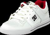 DC Shoes - Kids Pure Shoe Wht/Wht/Athl Red