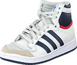 adidas Originals - Top Ten Hi Jr White/New Navy/Red