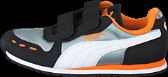 Puma - Cabana Racer Mesh V Kids Limestone Gray-White