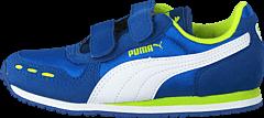 Puma - Cabana Racer Mesh V Kids Puma Royal-White