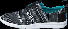 Toms - Del Rey Sneaker Black White Cultural Woven