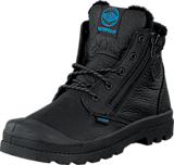 Palladium - Pampa Hi Cuff WPS Kids Black