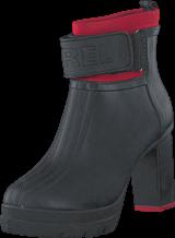 Sorel - Medina III Black, Bright Red