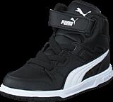 Puma - Puma Rebound Street L V Kids Black-White