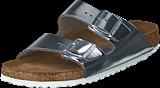Birkenstock - Arizona Smooth Leather Silver Metallic