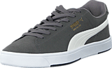 Puma - Suede S Steel Gray-White-New Gold