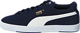 Puma - Suede S Peacoat-White-New Gold