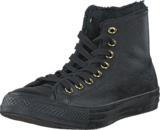 Converse - All Star Shearling Leather-Hi Black/Black/Black
