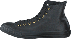 Converse - All Star Shearling Leather-Hi Black/Black/Black