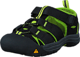 Keen - Newport H2 Tots Black/Lime Green