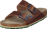 Birkenstock - Arizona Soft Regular Leather Antique Brown