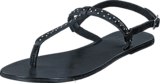 Pieces - Pslina Leather Sandal Studs Black