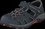 Merrell - Boys Hydro H2O Hiker Sandal Black/Gunsmoke/Orange