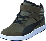 Puma - Reebound street v 2 Fur PS Olive Night-Black