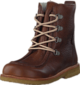 Angulus - TEX-boot w. zipper and laces 2509/1589 Red-brown