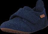 Bisgaard - Home Shoe Wool Velcro Blue