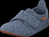 Bisgaard - Home Shoe Wool Velcro Grey