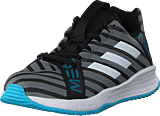 adidas Sport Performance - Rapidaturf Messi K Core Black/Ftwr Wht/Super Cyan