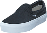 Vans - UA Classic Slip-On Platform (Embossed) Black/ White