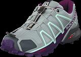 Salomon - Speedcross 4 W Quarry/Acai/Fair Aqua