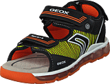 Geox - J Sandal Android Black/orange