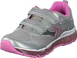 Geox - Jr Android Silver/pink