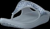 Crocs - Sloane Graphic Etch Met Flip W Pearl White/silver