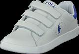 Ralph Lauren Junior - Quilton Ez C White Leather W Royal Pp